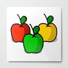 Apple Trio | Veronica Nagorny Metal Print