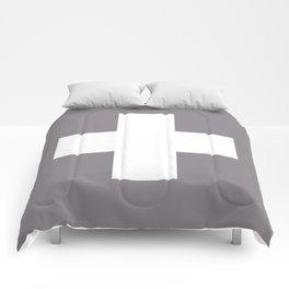 Swiss Cross Taupe Comforters