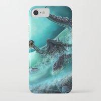 kraken iPhone & iPod Cases featuring Kraken by Zeynep Aktaş