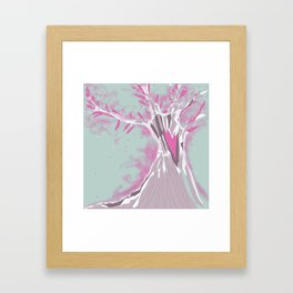 Blossoming pink tree  Framed Art Print