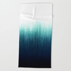 Teal Ombré Beach Towel