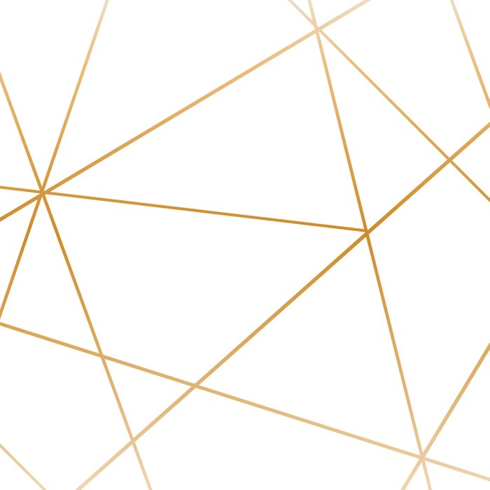 geometric gold and white Duvet Cover