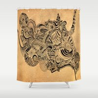 labyrinth Shower Curtains featuring Labyrinth by DuckyB