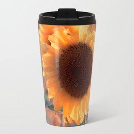 Soon she donates seeds for the birds the sunflower Travel Mug