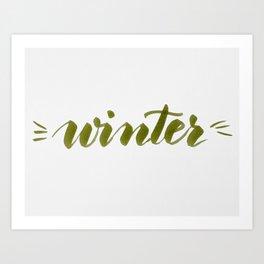 Winter - green Art Print