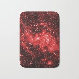 Chandra #1 Red Bath Mat