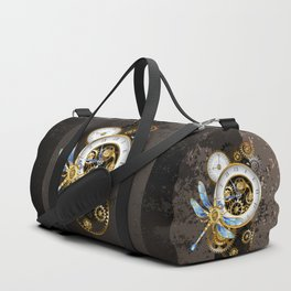 Dials with Dragonfly ( Steampunk ) Duffle Bag