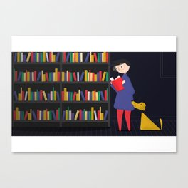 Chasing Sparks - Books Canvas Print