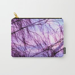 Pink Lavender Sky Through Wispy Trees Carry-All Pouch