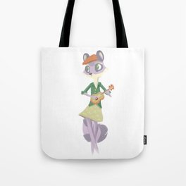 hipster animals: raccoon Tote Bag
