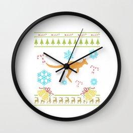 Christmas Ugly Sweater Shirt Pet Wallaby Wall Clock