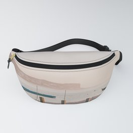 Boats at sunset Fanny Pack