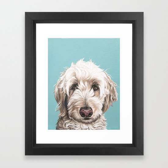 Sweet and Soulful Labradoodle Painting, Labradoodle Artwork, Portrait of a Champagne Labradoodle by sydneyhardin