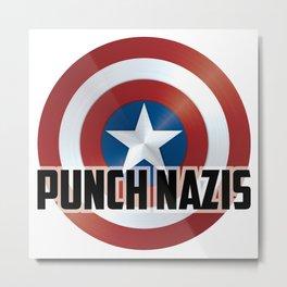 Punch Nazis Metal Print