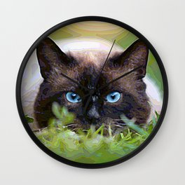 AnimalPaint_Cat_20171201_by_JAMColorsSpecial Wall Clock