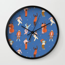 All Night Dance Party Wall Clock