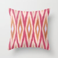 diamonds Throw Pillows featuring DIAMONDS by pattern paint