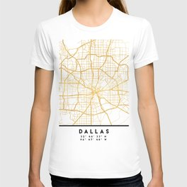 DALLAS TEXAS CITY STREET MAP ART T-shirt
