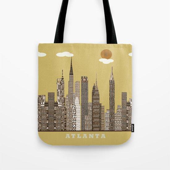 Atlanta city vintage Tote Bag