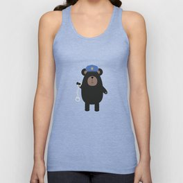 Police Black Bear and Unisex Tank Top