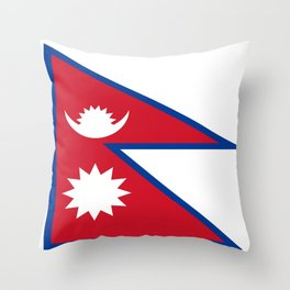 flag of nepal-nepal,buddhism,Nepali, Nepalese,india,asia,Kathmandu,Pokhara,tibet Throw Pillow