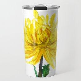one yellow chrysanthemum Travel Mug