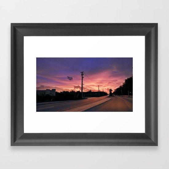 Miami Sunrise Framed Art Print