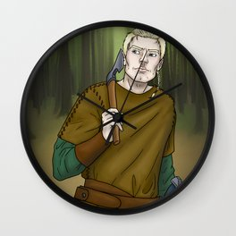Ivar the Hunter Wall Clock