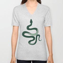 Green Snake Unisex V-Neck