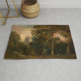 "John Constable ""A Church in the Trees"" Rug"