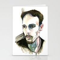 depression Stationery Cards featuring Portrait of Depression by ArtbyLumi
