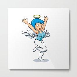angel girl with wings Metal Print