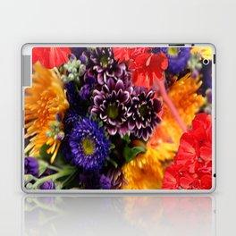 red geraniums flowers floral bouquet Laptop & iPad Skin