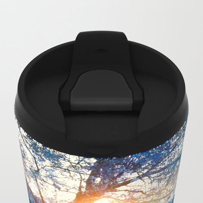 Hope in blue Metal Travel Mug