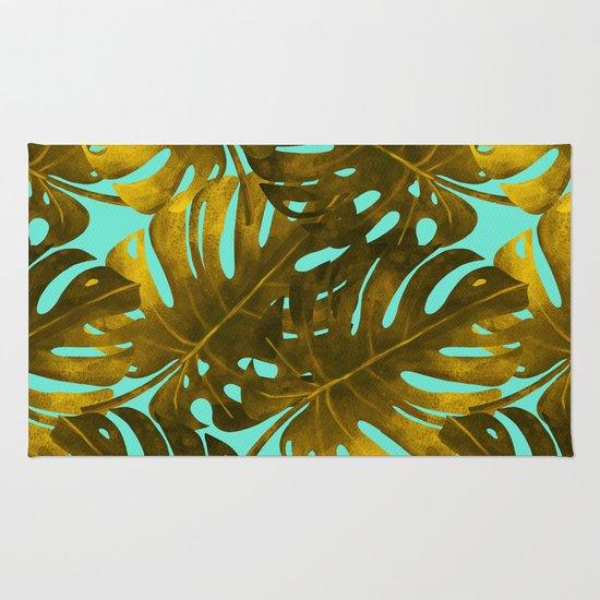 Monstera Leaf Pattern Rug By Mmartabc Society6
