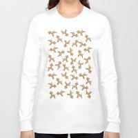 giraffes Long Sleeve T-shirts featuring Giraffes! by Kashidoodles Creations
