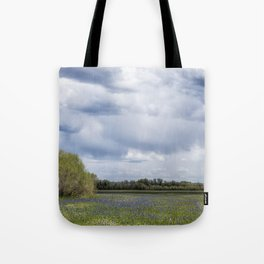Field of Camas and Dandelions, No. 2 Tote Bag