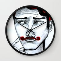 gentleman Wall Clocks featuring gentleman by sladja