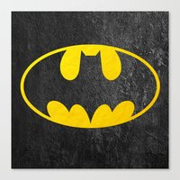 bat man Canvas Prints featuring Bat man by S.Levis