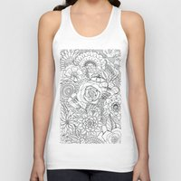 floral pattern Tank Tops featuring Floral Pattern by Coffee and Pen
