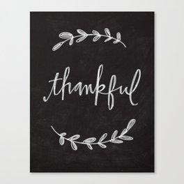 Thankful Chalkboard Art Canvas Print