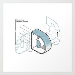 The Exploded Alphabet / D Art Print