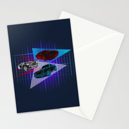 80s Supercars Stationery Cards