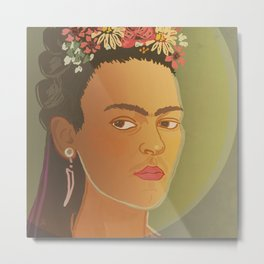 Frida / Stay Wild Collection Metal Print