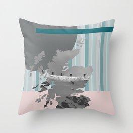 Scotland, the land of the mountains multi-coloured Throw Pillow
