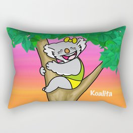 koalita on the tree Rectangular Pillow