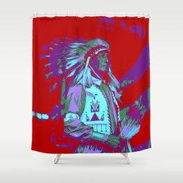 Indian Chief Pop Art Shower Curtain