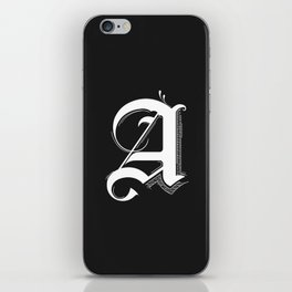 Letter A iPhone Skin