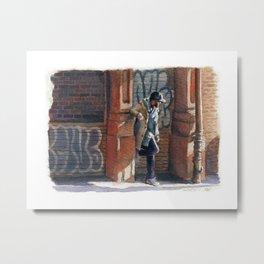 Stylish Man in Soho Metal Print