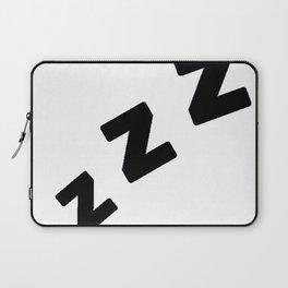 Zzzs in Black Laptop Sleeve